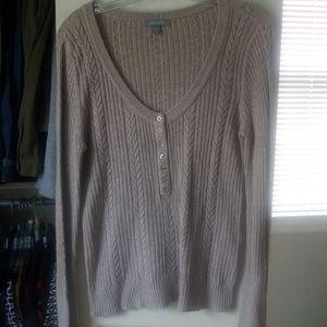 Delia's cable knit tan sweater